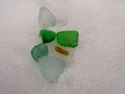 Geschliffenes Glas auf Eis