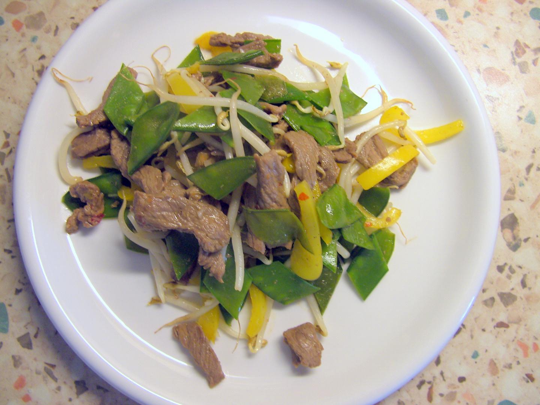 Geschnezeltes Rindfleisch auf chinesische Art (2)