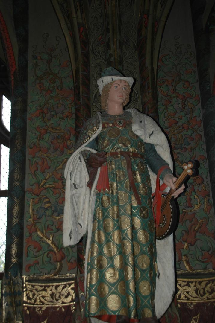 Geschnitzte Frauenskulptur in der Albrechtsburg in Meissen