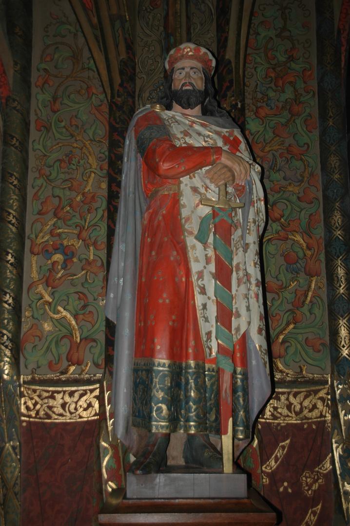 Geschnitzte Skulptur in der Albrechtsburg in Meissen