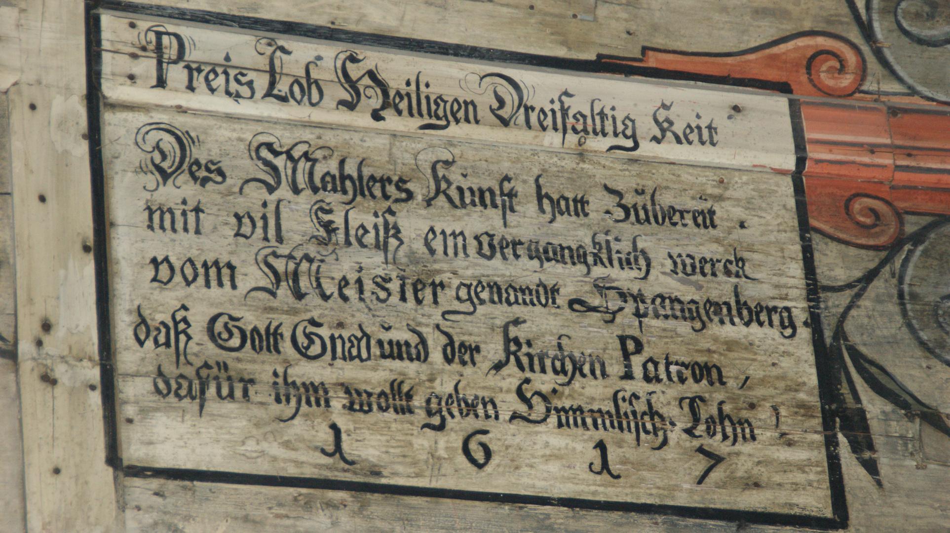 Gesehen in der Johanniskirche an dem Runddeckengewölbe