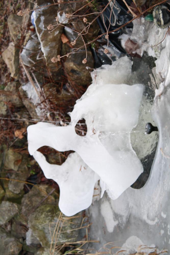 Gesicht aus Eis