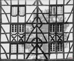 Gesicht eines Hauses