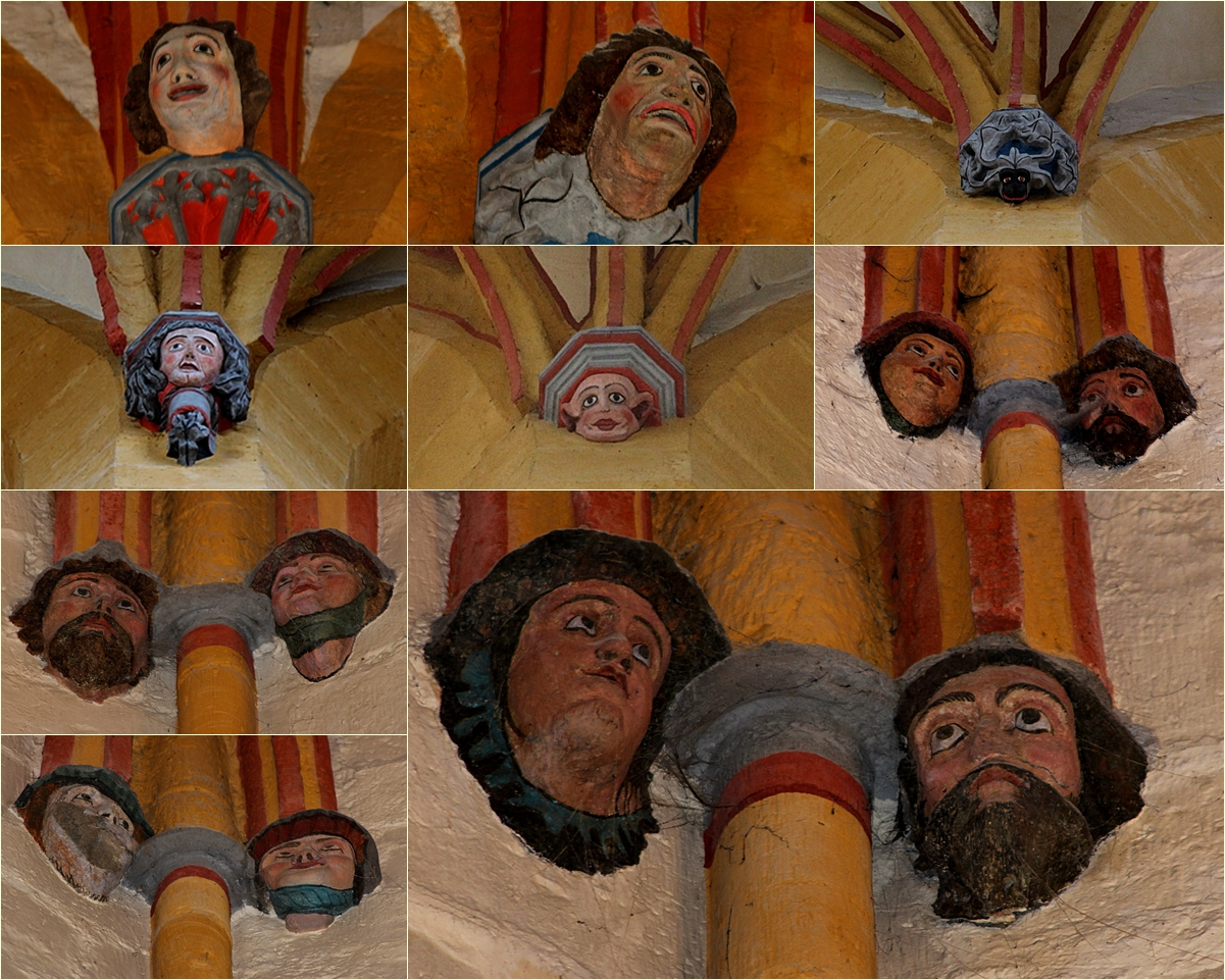 Gesichter aus dem Mittelalter