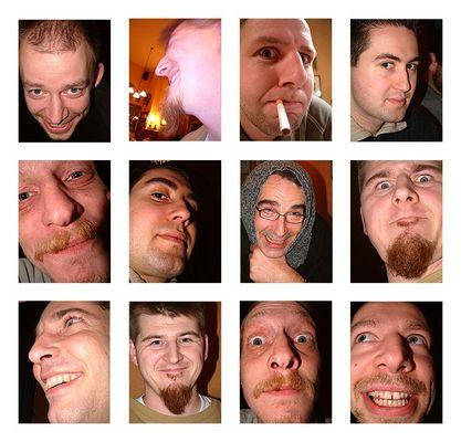 Gesichter eines Stammtisches