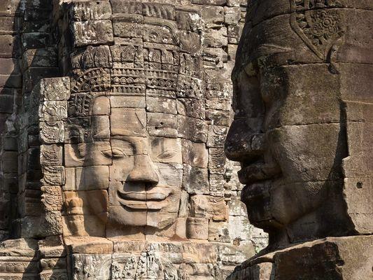 """""""Gesichter"""" im Bayon-Tempel"""
