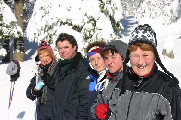Gesichter im Schne