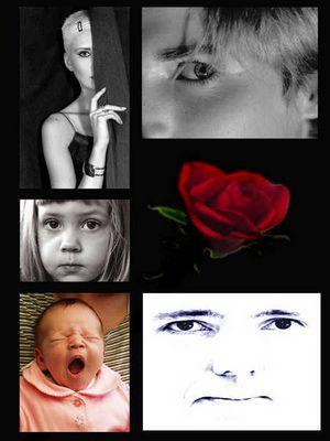 Gesichter mit Rose