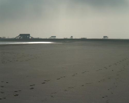 Gespenster am Strand von St. Peter-Ording