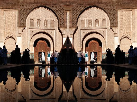 Gespiegelte Koranschule in Marrakech