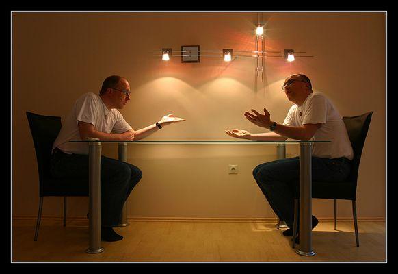 Gespräch unter Männer