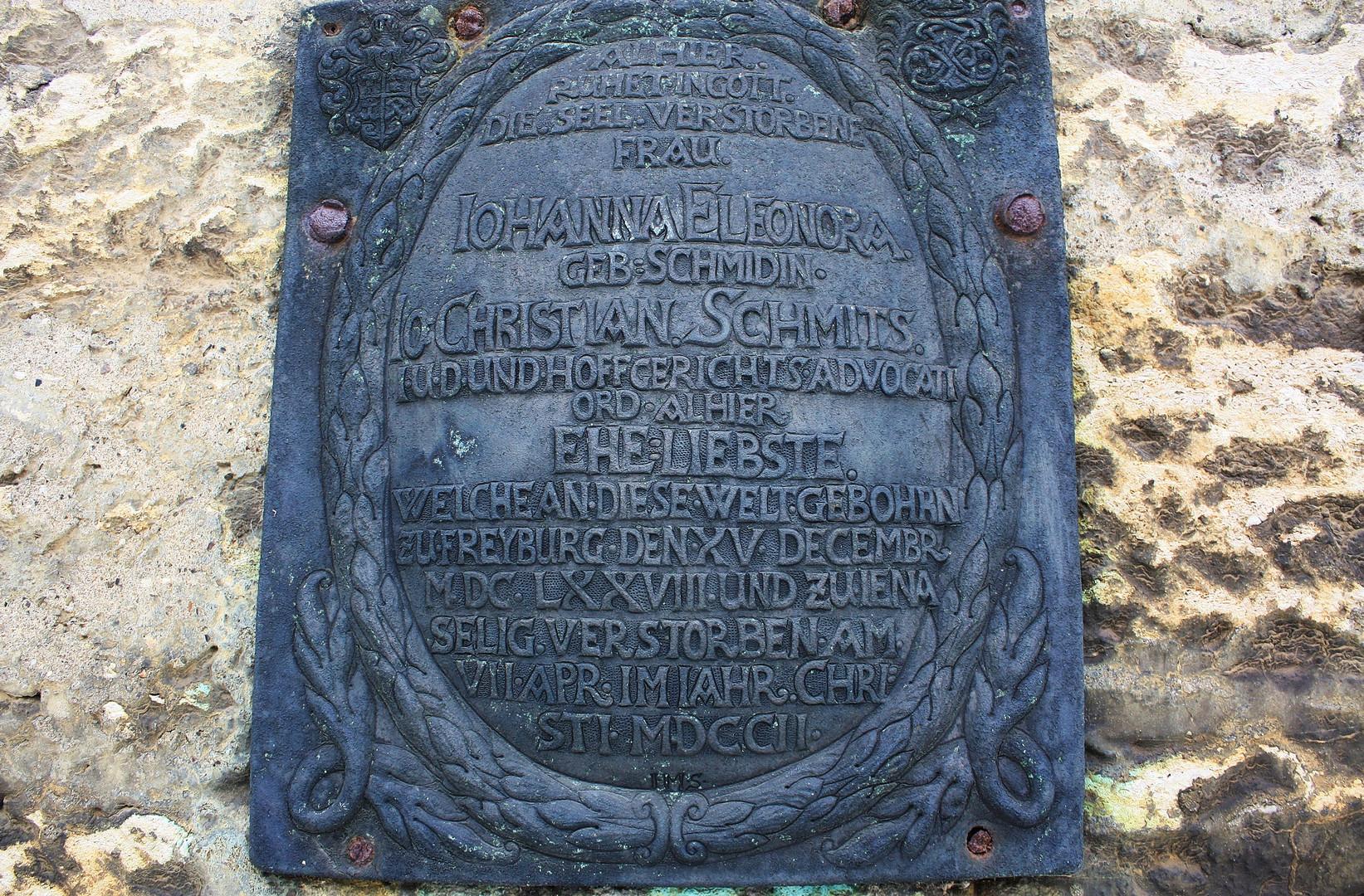 Geständnis auf dem Grabstein