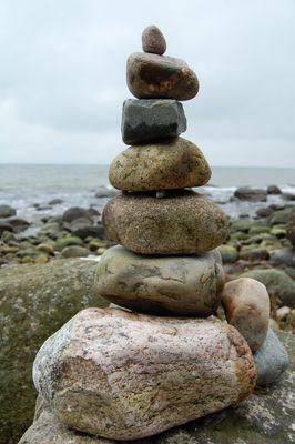 gestappelte Steine