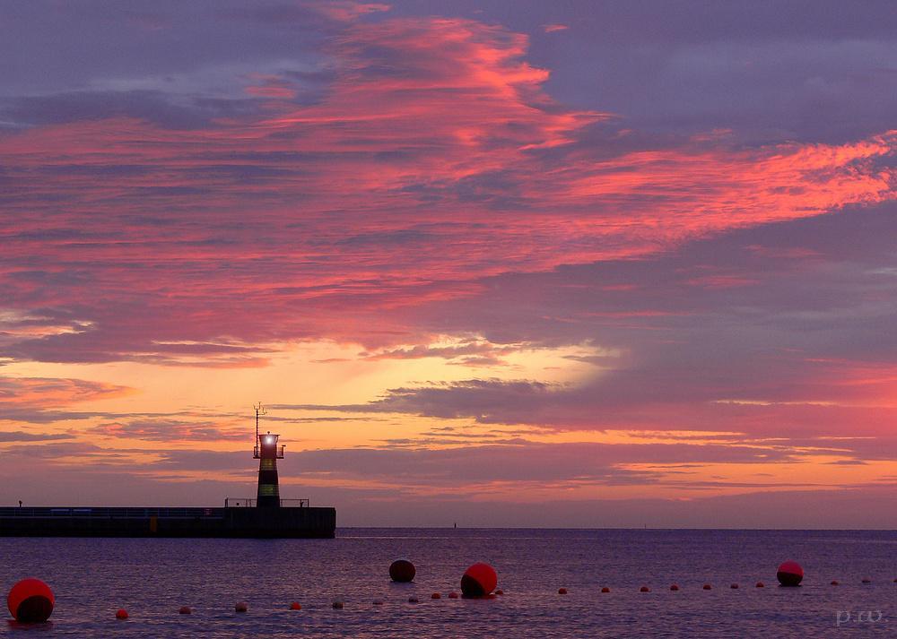Gestern 4.42 Ostseeküste kurz vor Sonnenaufgang