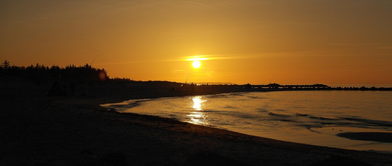 Gestern Abend an der Ostsee
