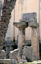 Gestern und heute. Apollontempel, Syrakus