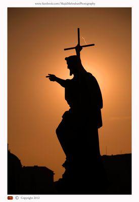 Gesus statue on Charels bridge