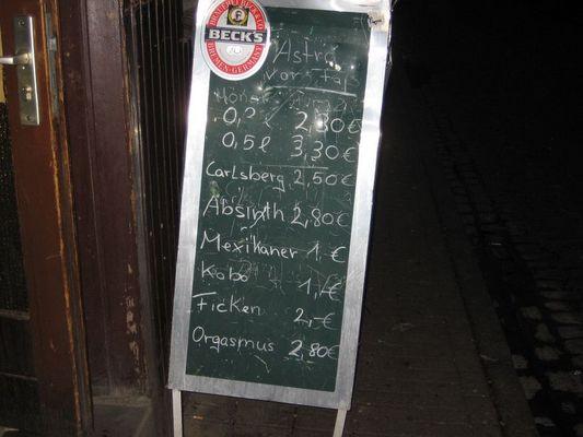 Getränkekarte vom feinsten... ;-)