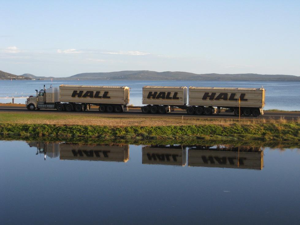 Getreide-Transport nach Aussie-Art