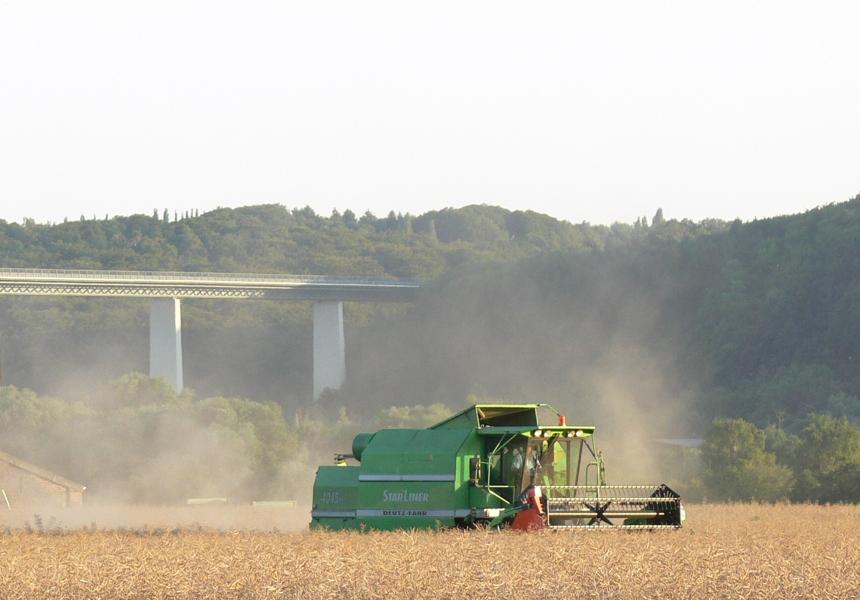 Getreideernte im Ruhrtal