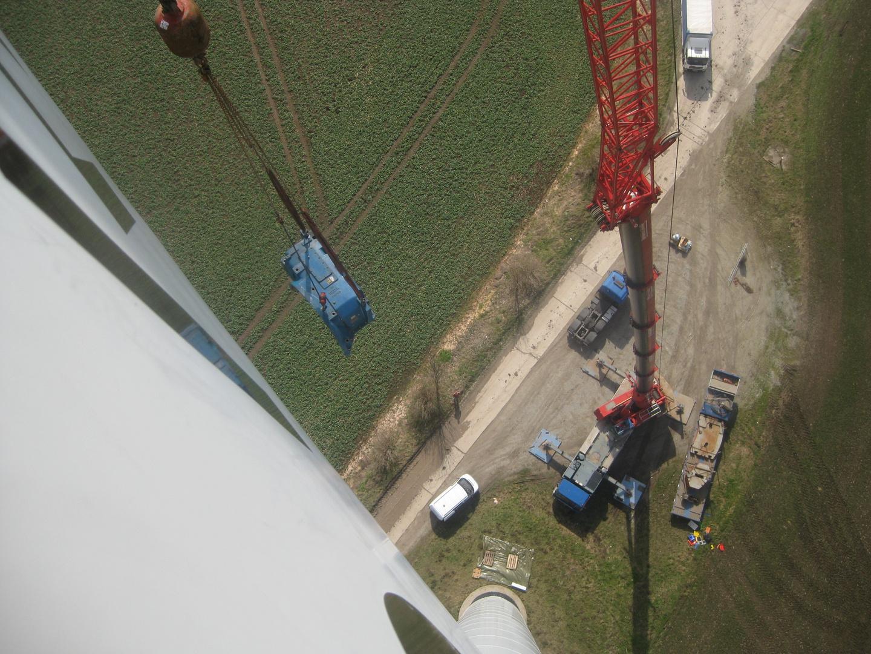 Getriebeinstandsetzung auf einer Windkraftanlage