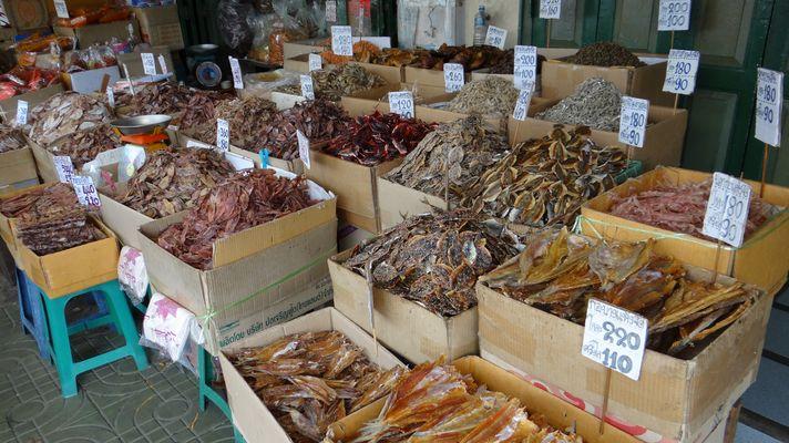 getrockneter Fisch auf dem Markt