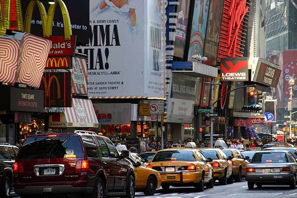 Getümmel am Times Square