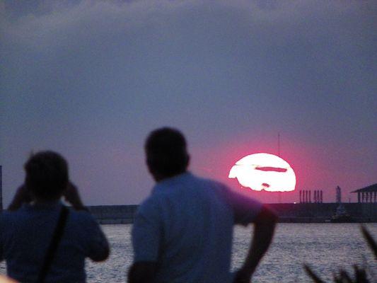 Getxo sun set