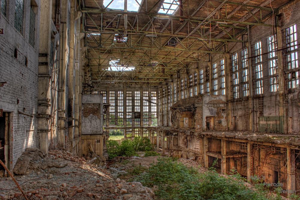Gewächshaus im Kraftwerk