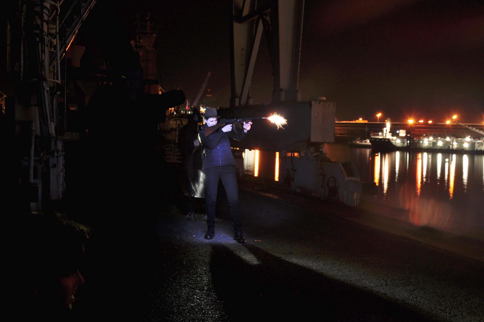 Gewehrfeuer im Hafen, Choreographische Fotographie