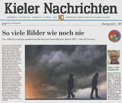 Gewinn von Blende 2012 der Kieler Nachrichten