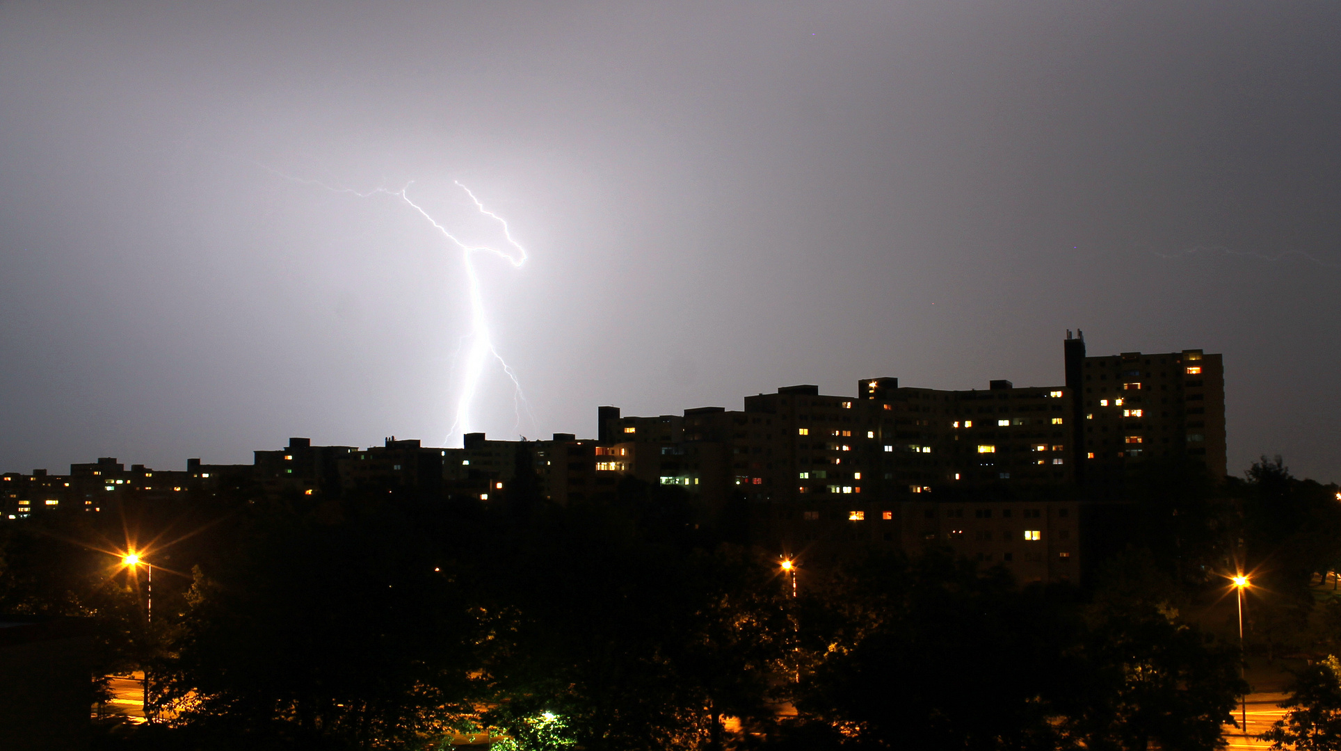 Gewitter am 19.06.2013 über Kiel