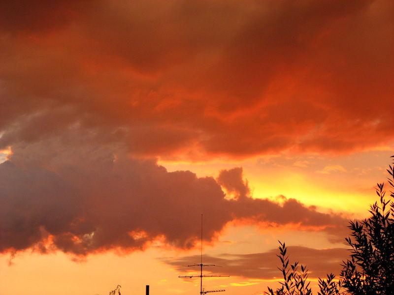 Gewitter am Abendhimmel