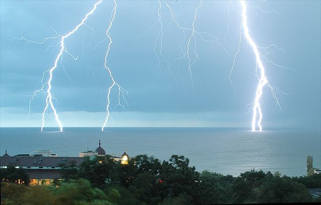 Gewitter am Goldstrand Bulgarien