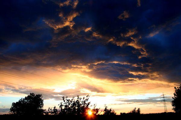 Gewitter-Himmel über Dülken