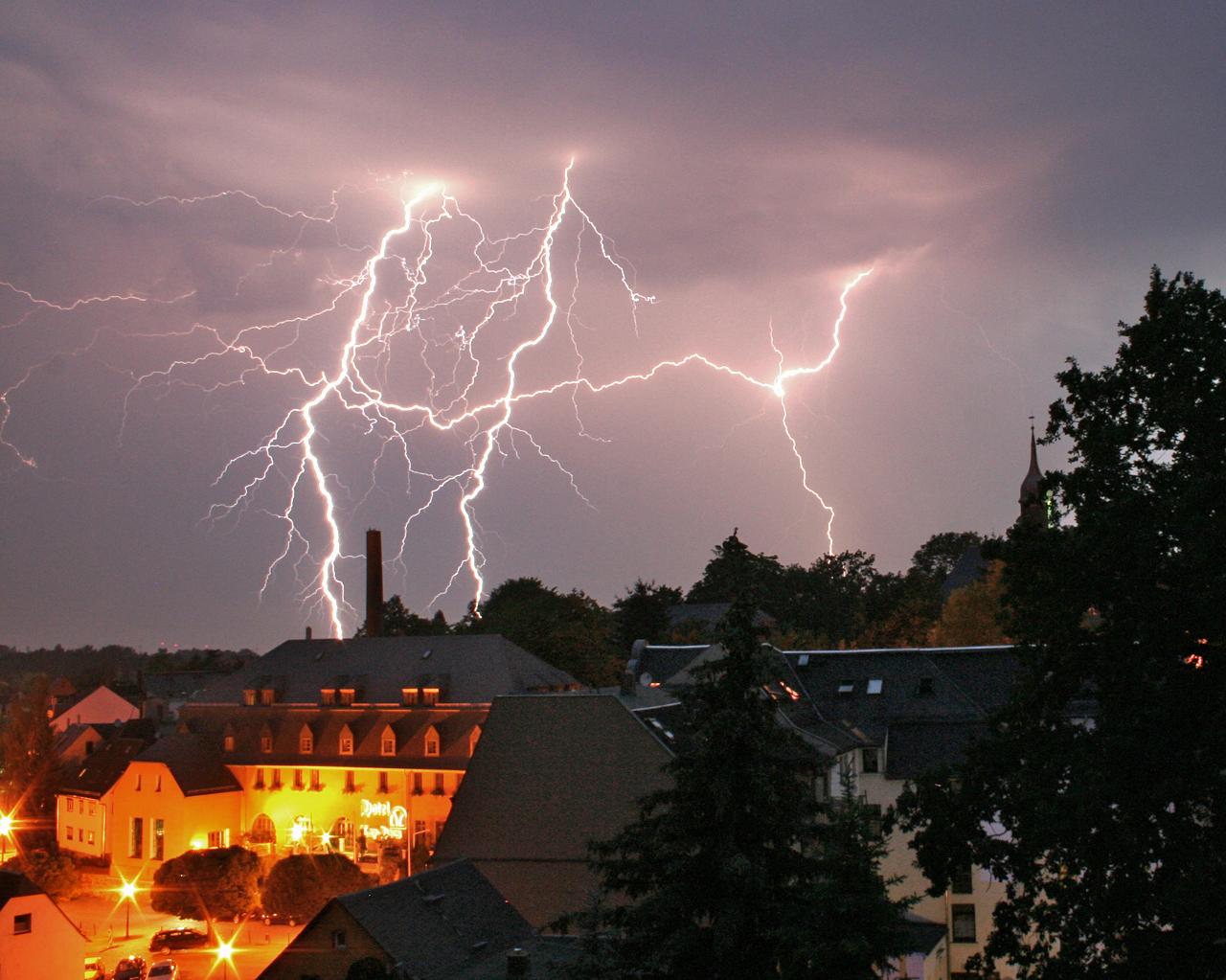 Gewitter in Limbach-Oberfrohna