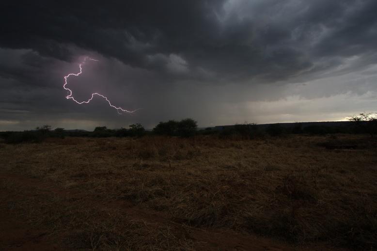 Gewitter in Namibia