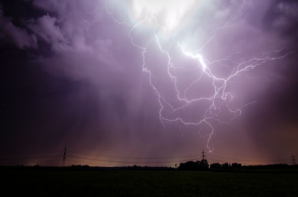Gewitter südlich von Ulm am 27.07.2012