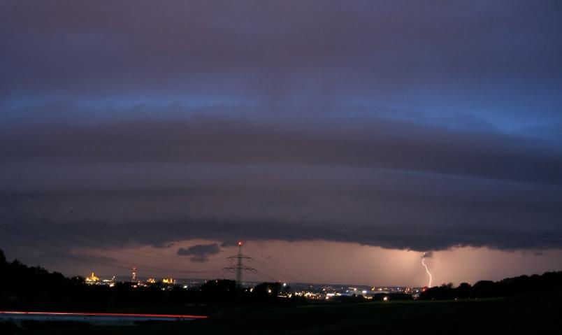 Gewitter über Augsburg