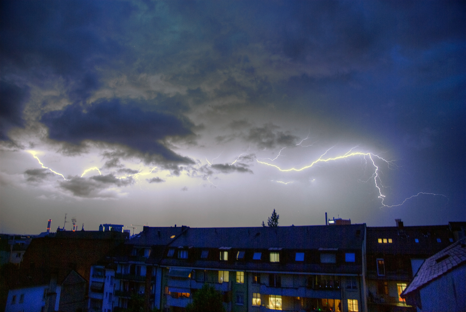 Gewitter über Basel