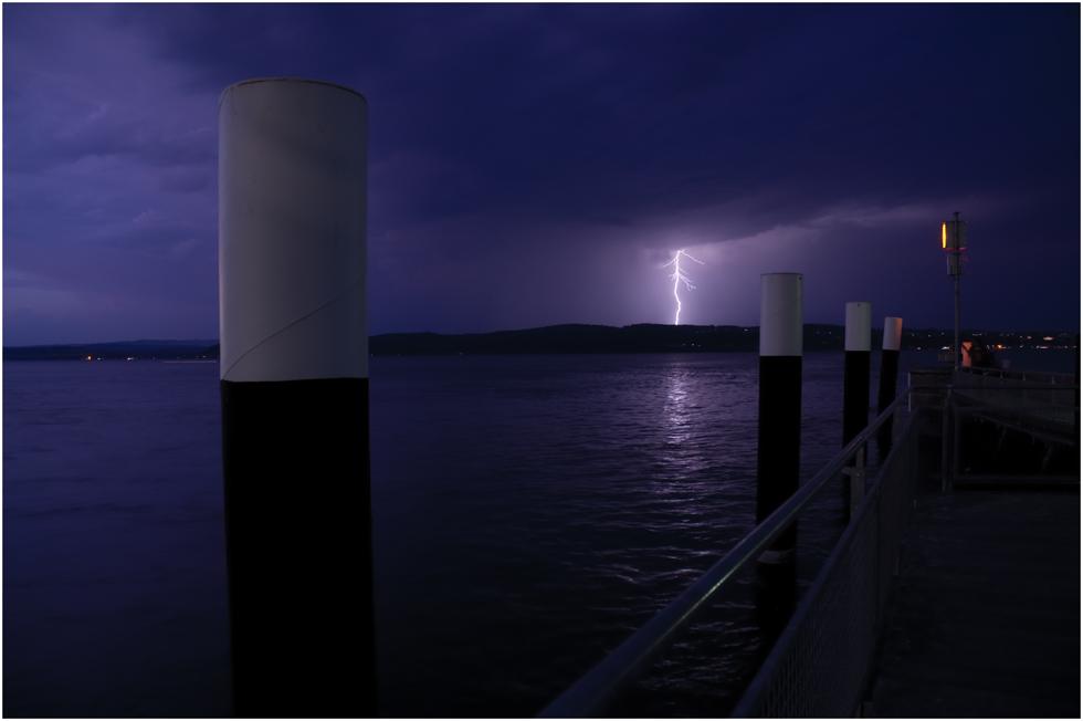 Gewitter über dem Bodensee