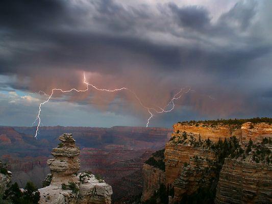 Gewitter über dem Grand Canyon