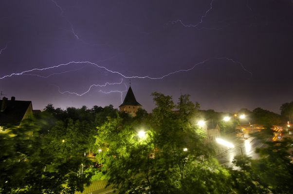 Gewitter über dem Schleyerturm