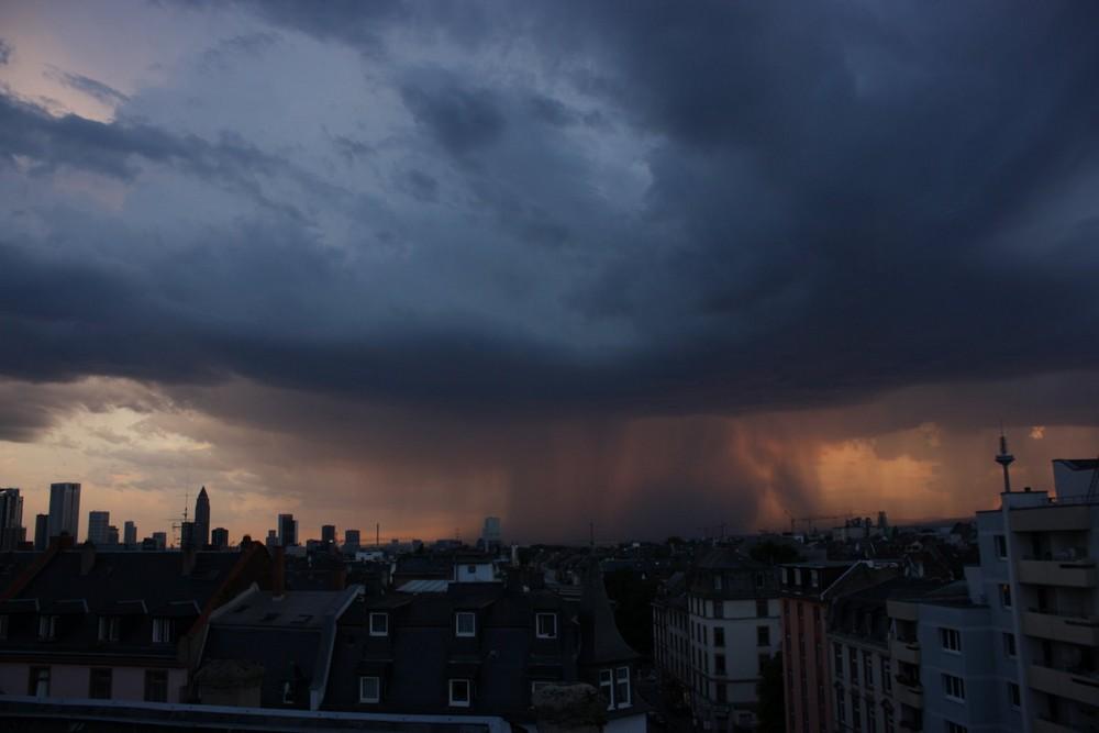 Gewitter über dem Taunus im August