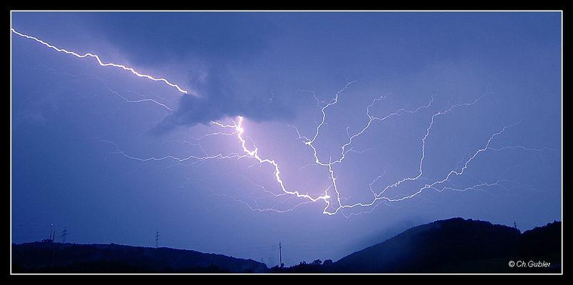 Gewitter über der Frohburg
