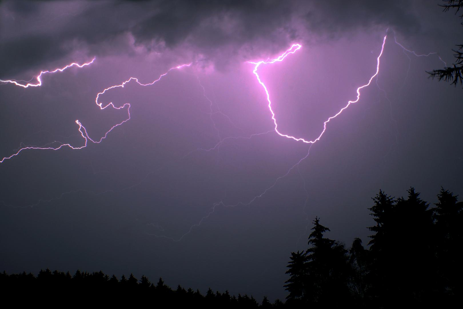 Gewitter über Ennepetal