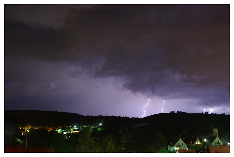 Gewitter über Eschenau