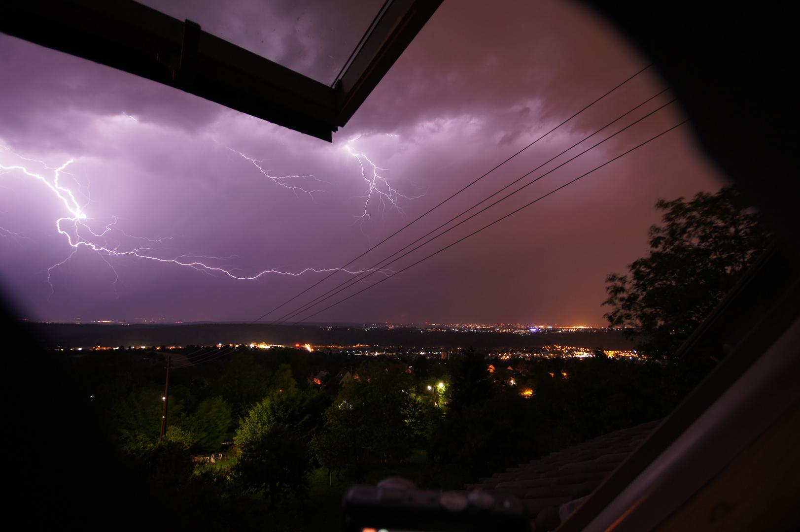 Gewitter über Esslingen