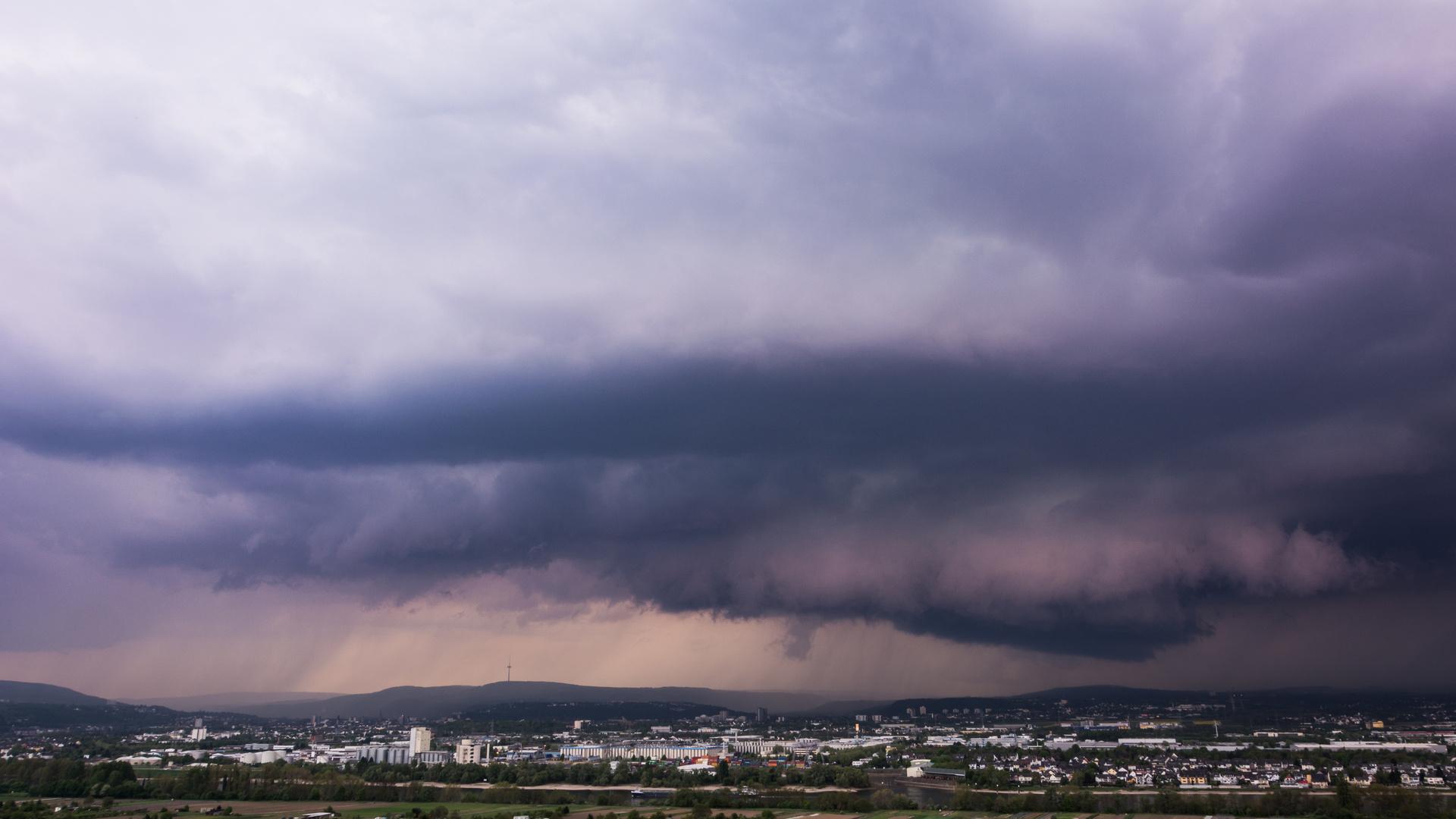 Gewitter über Koblenz