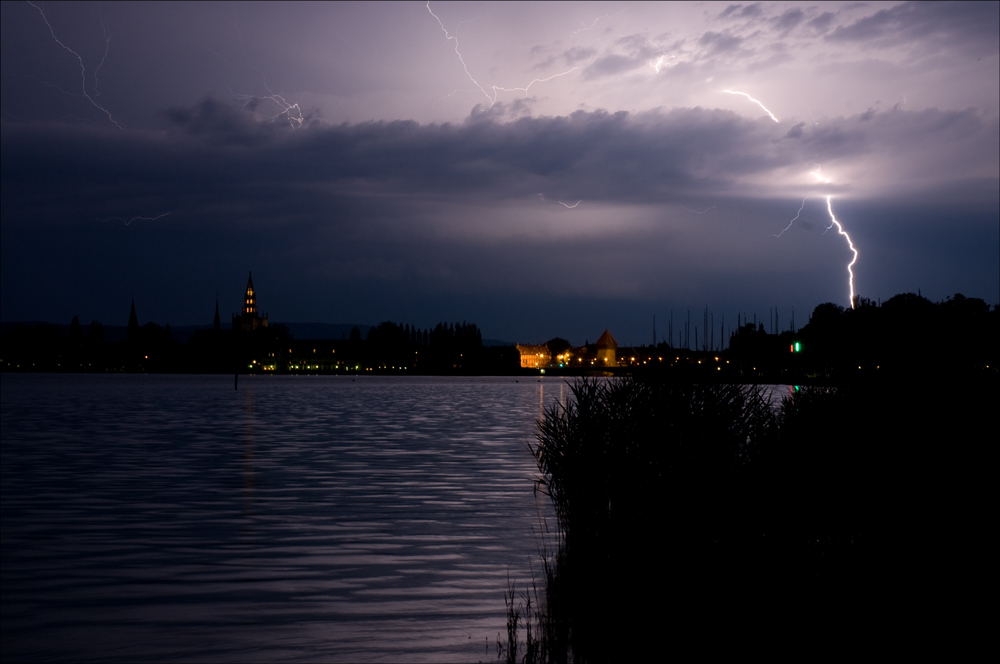 Gewitter über Konstanz